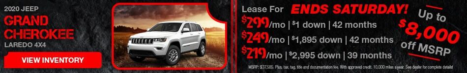 February 2020 Jeep Grand Cherokee Lease