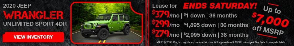 February 2020 Jeep Rangler Lease