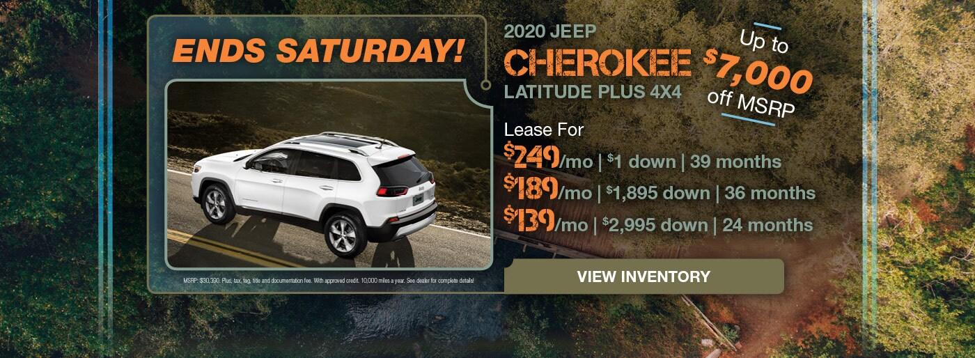 December 2020 Jeep Cherokee Lease