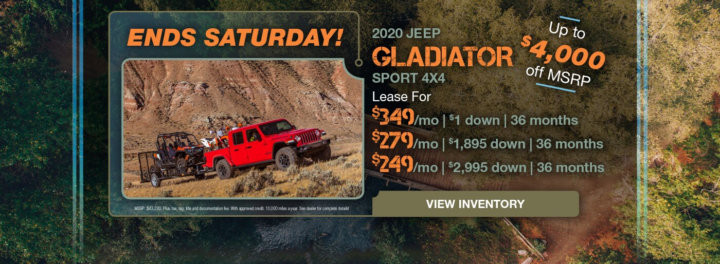 December 2020 Jeep Gladiator Lease