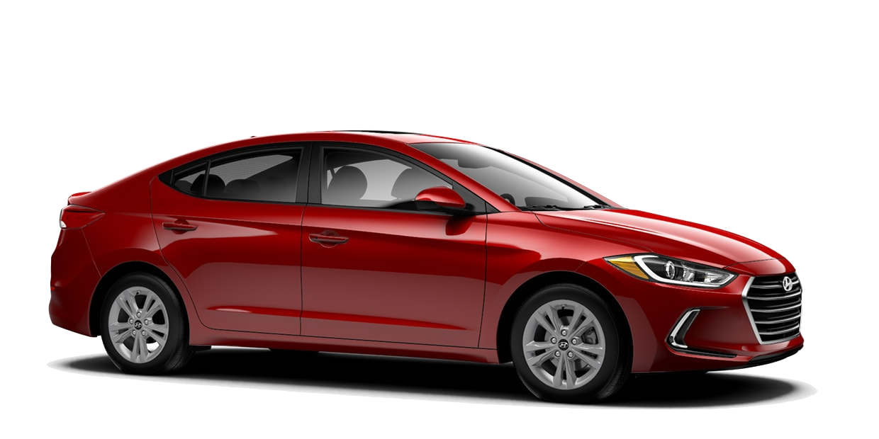 hyundai elantra value edition in red