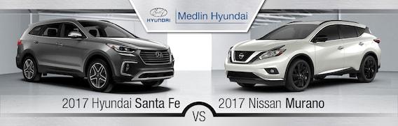 Nissan Rogue Vs Hyundai Santa Fe >> 2017 Nissan Murano Vs 2017 Hyundai Santa Fe In Rocky Mount Nc