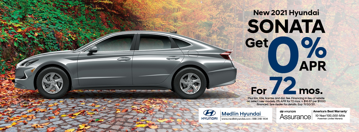 2021 Hyundai Sonata finance offer, 0% APR for 72 mos. | Rocky Mount, NC