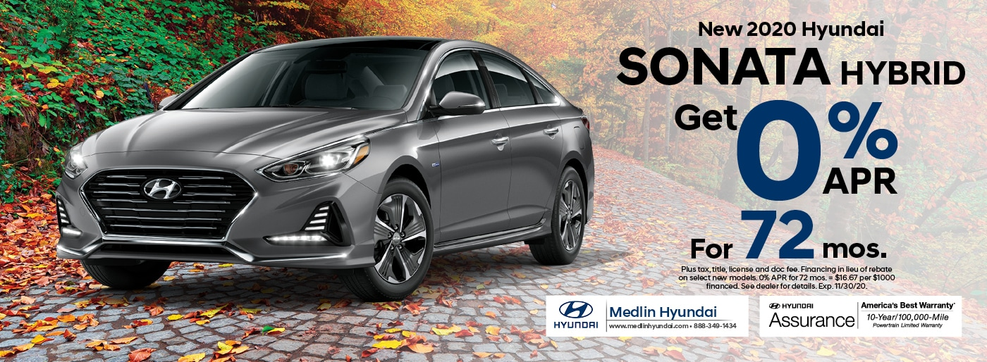 2021 Hyundai Sonata Hybrid finance offer, 0% APR for 72 mos. | Rocky Mount, NC