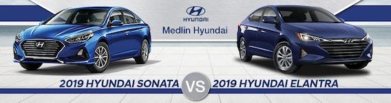 Sonata Vs Elantra >> 2019 Hyundai Sonata Vs Elantra Near Wilson Nc Medlin Hyundai