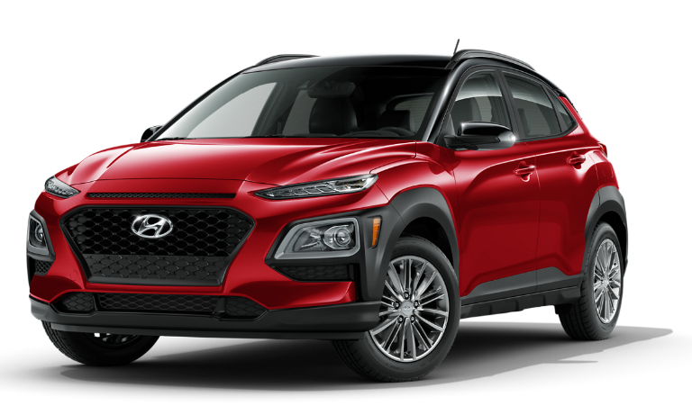 2021 Hyundai Kona SEL - Pulse red w/ black roofd