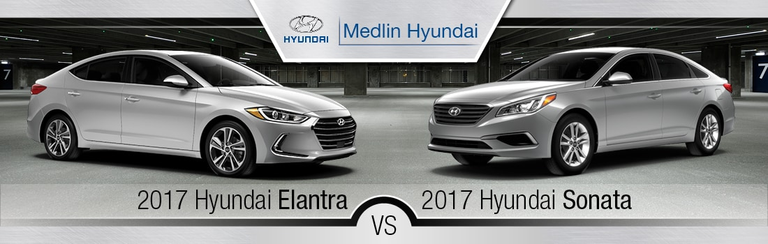 Elantra Vs Sonata >> 2017 Hyundai Elantra vs. 2017 Hyundai Sonata in Rocky ...