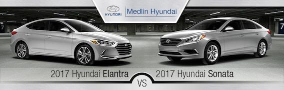 Sonata Vs Elantra >> 2017 Hyundai Elantra Vs 2017 Hyundai Sonata In Rocky Mount Nc