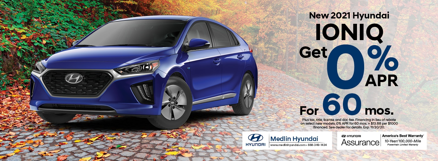 2021 Hyundai Ioniq finance offer, 0% APR for 60 mos. | Rocky Mount, NC