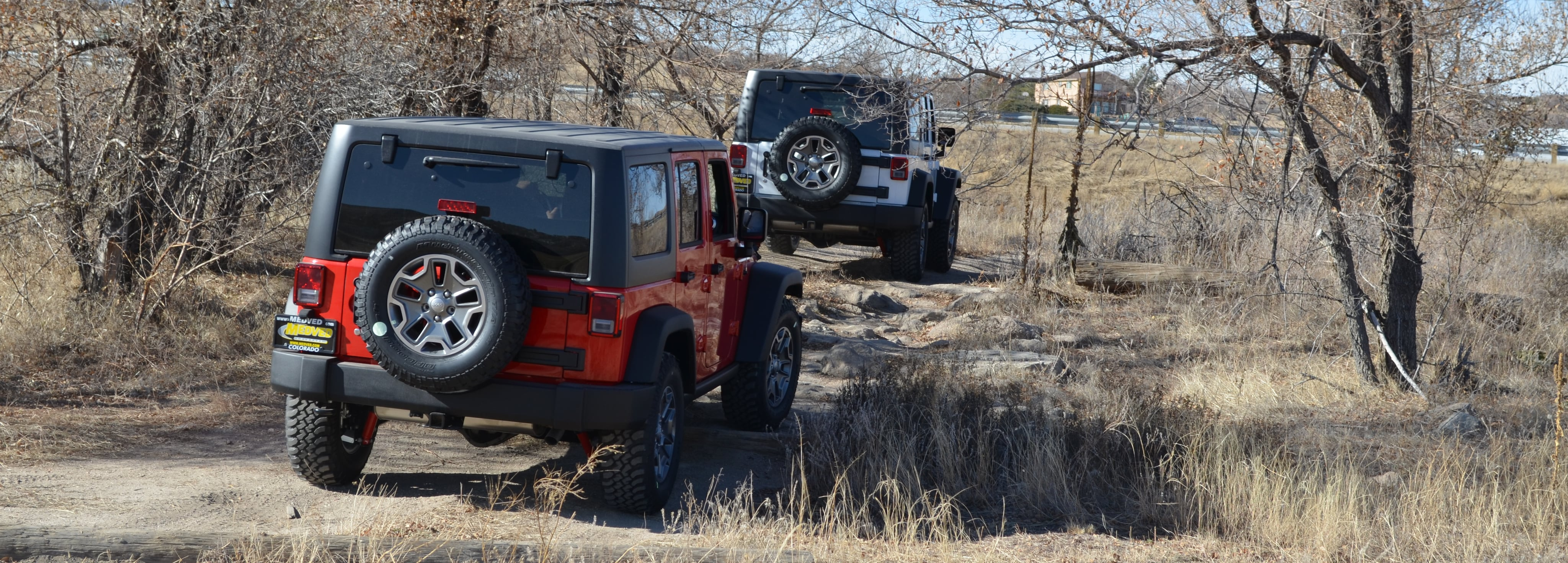 Jeep SUVs are ready to tackle any terrain.  Test drive a new Jeep vehicle today on our off road test track at Medved CDJR in Castle Rock, CO.
