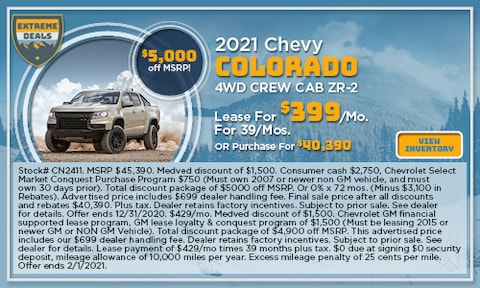 2021 Chevy Colorado 4WD Crew Cab ZR-2