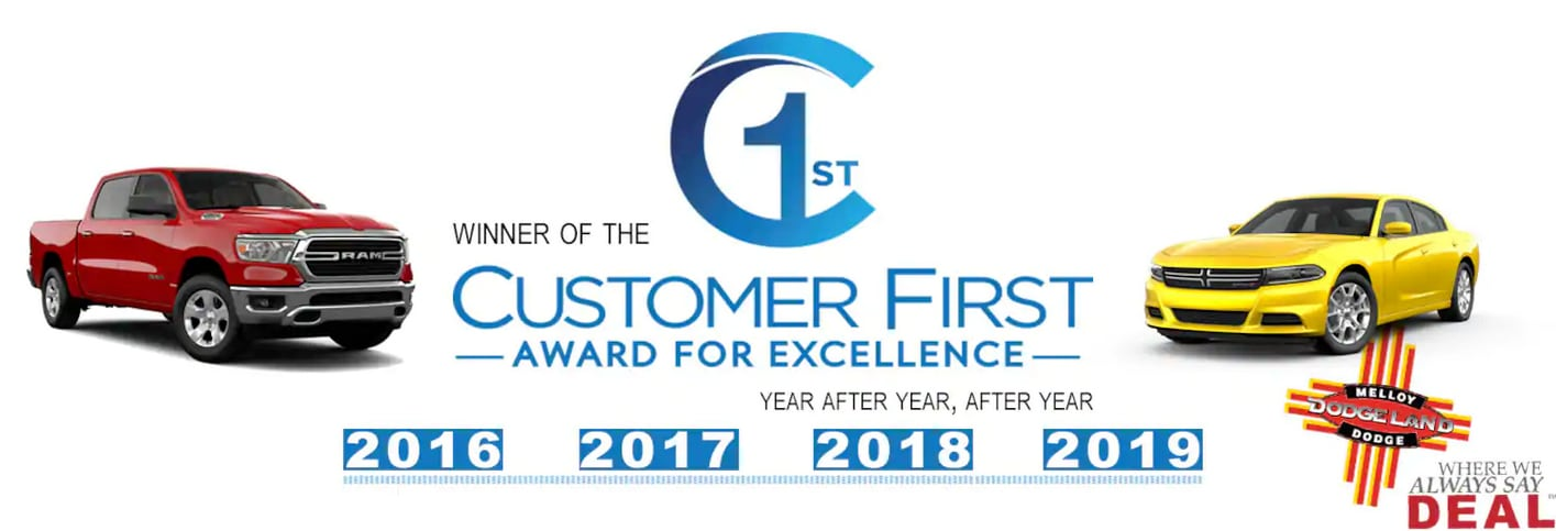 Melloy Dodge Earns Customer First Award of Excellent 2019