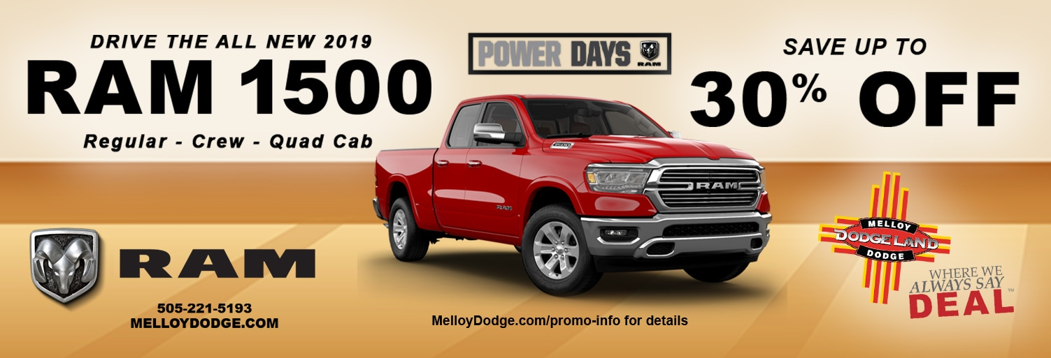 2019 RAM 1500 Lease and Specials in Albuquerque New Mexico