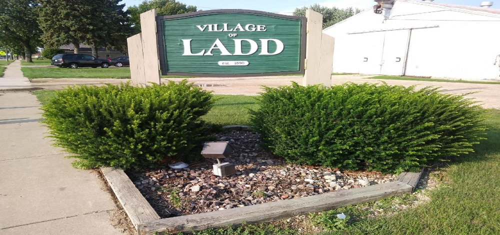 Town Sign In Ladd, IL
