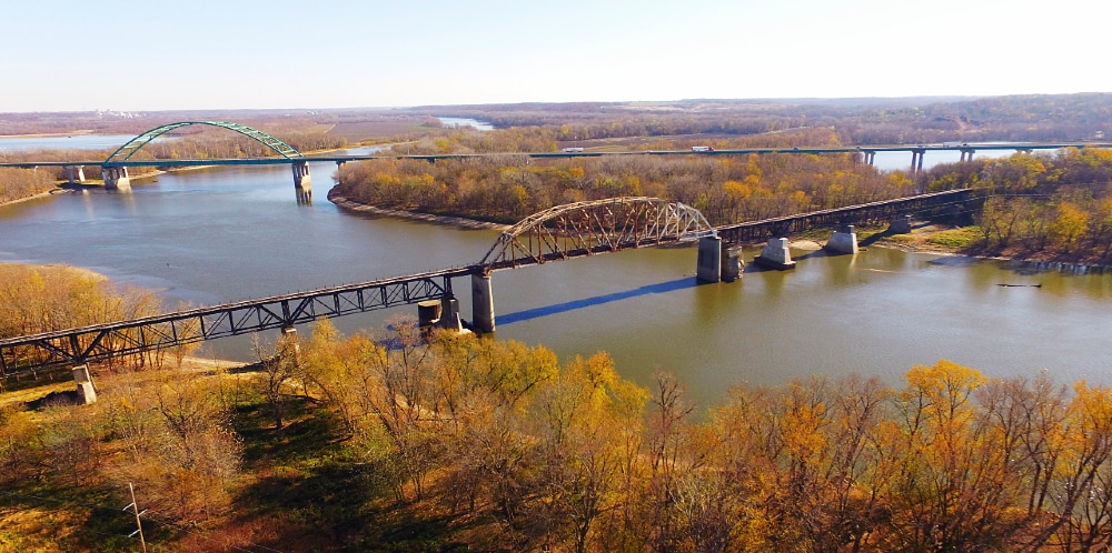 View Of The Illinois River In LaSalle, IL