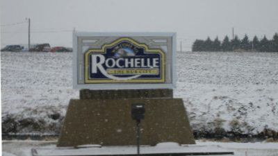 Rochelle, IL Town Sign