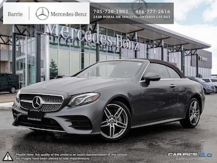 2018 Mercedes-Benz E400 Never Driven! Huge Savings! Cabriolet