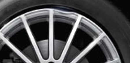 Dented rim on Mercedes-Benz vehicle