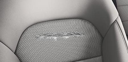 Torn seat in Mercedes-Benz