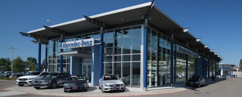 Exterior view of Mercedes-Benz of Bellevue