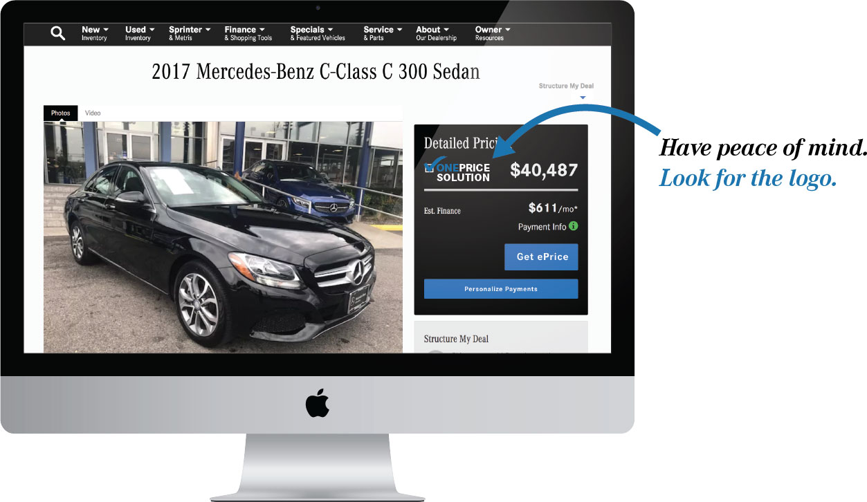 Mercedes-Benz of Brooklyn One Price Computer Example