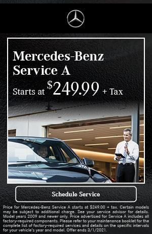 Mercedes-Benz Service A - February Special