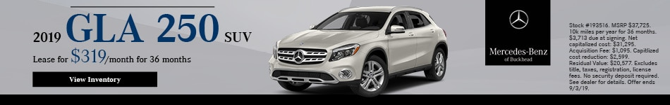 2019 GLA 250 SUV - August Offer