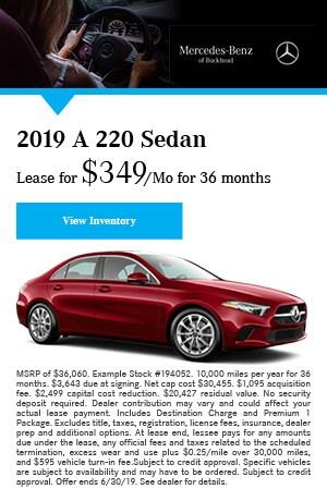 2019 A220 Sedan - June Offer