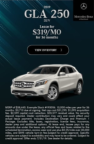 2019 GLA 250 SUV - July Offer