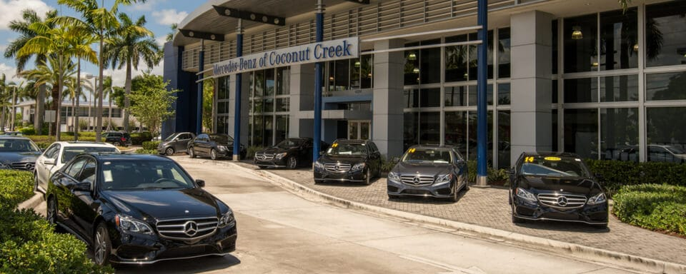 Exterior view of Mercedes-Benz of Coconut Creek