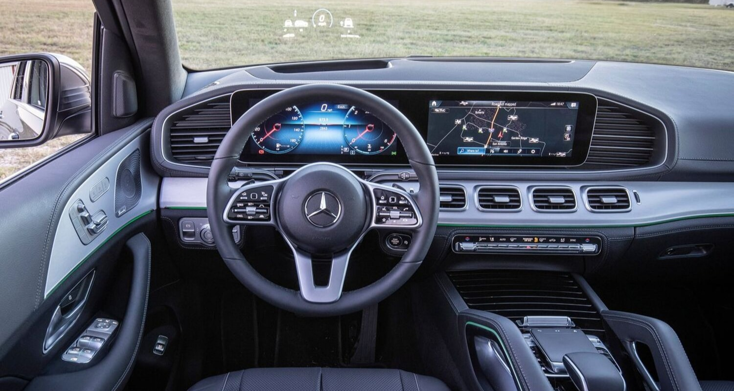 2020 Mercedes-Benz GLE interior front cabin head up display