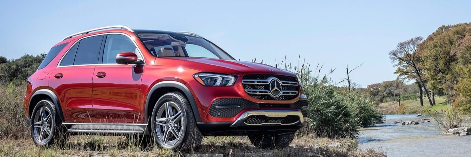 2020 Mercedes-Benz GLE exterior designo cardinal red color