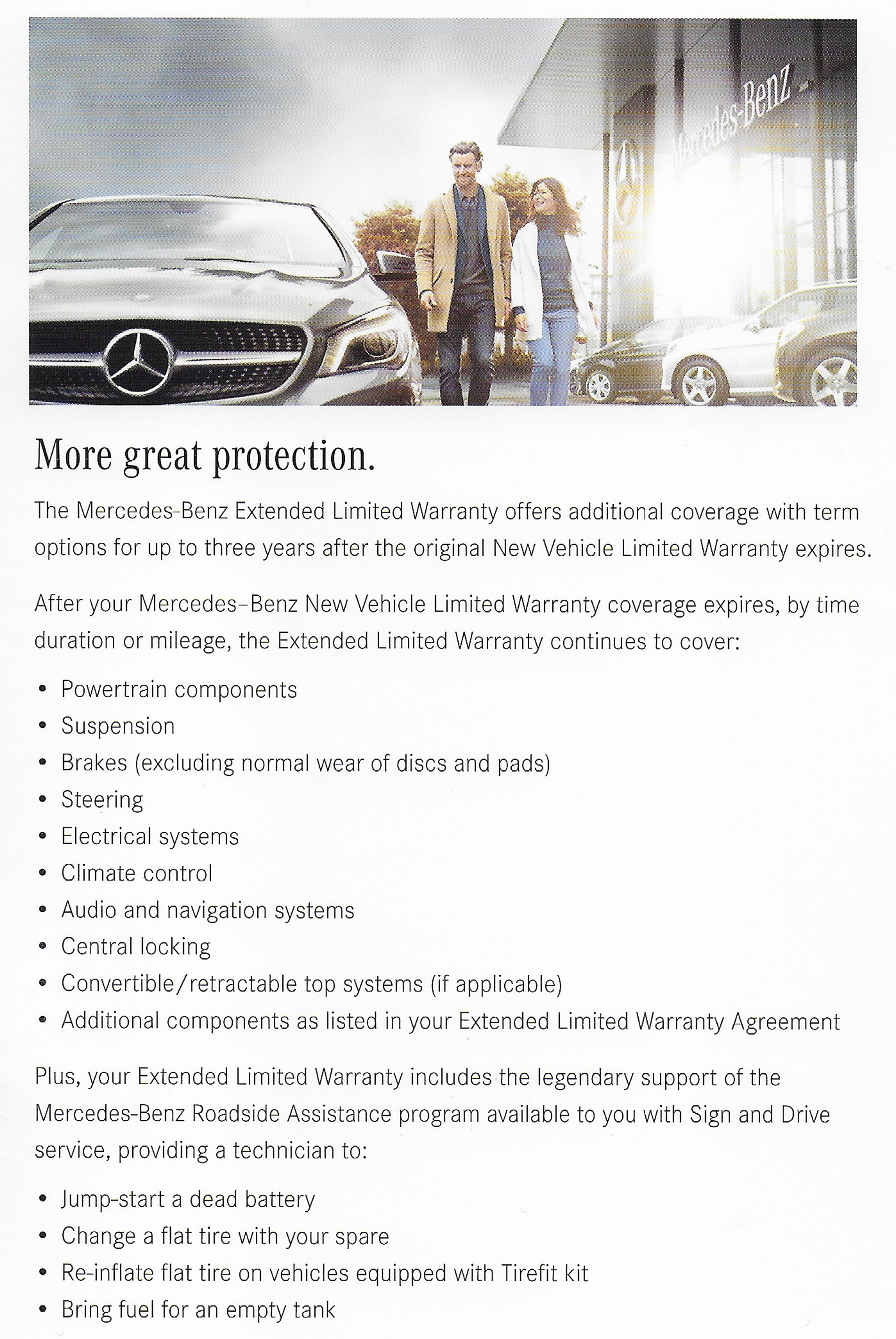 To Purchase The Extended Limited Warranty Or To Learn More, Please Visit An  Authorized Mercedes Benz Dealership. To Locate A Dealership, Visit  MBUSA.com Or ...