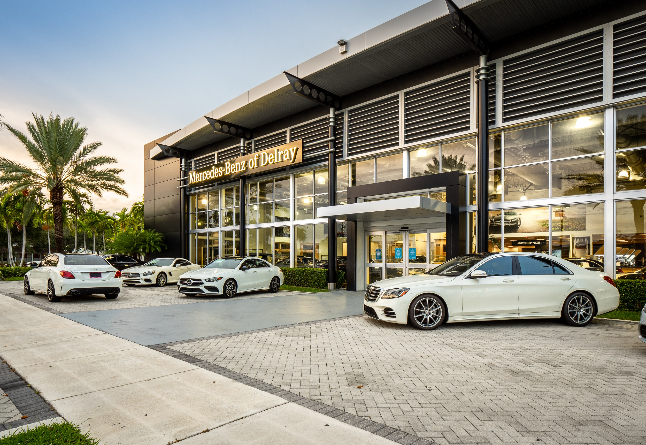 Outside view of Mercedes-Benz of Delray