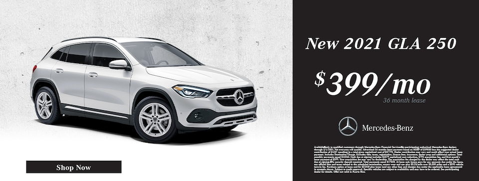 New 2021 Mercedes-Benz GLA 250 Lease Offer