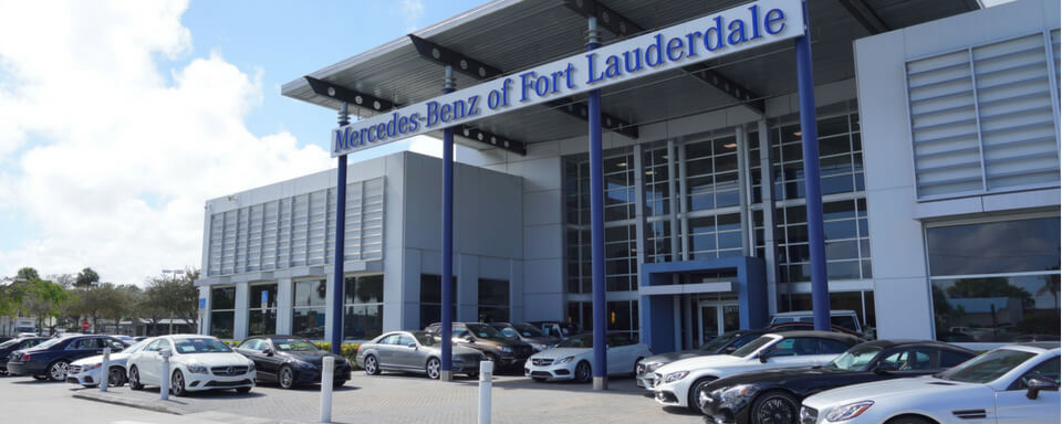 Exterior view of Mercedes-Benz of Fort Lauderdale
