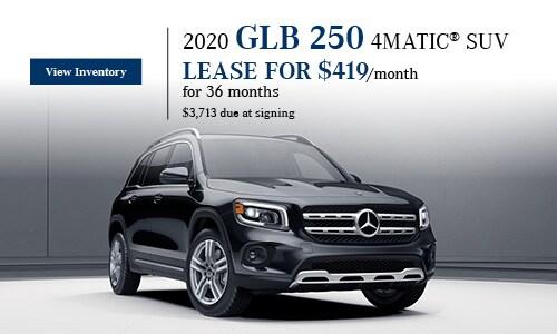 2020 GLB 250 4MATIC SUV - January Offer