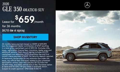 2020 GLE 350 SUV - September Offer
