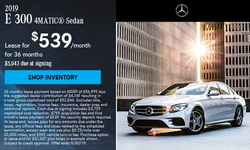 2019 E 300 Sedan - September Offer