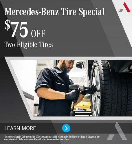Mercedes-Benz Tire Special $75 Off