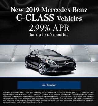 February New 2019 Mercedes-Benz C-Class Vehicles Finance Offer