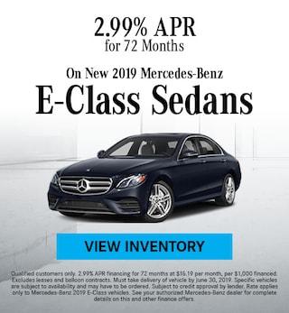 June 2019 E-Class Sedan Finance Offer