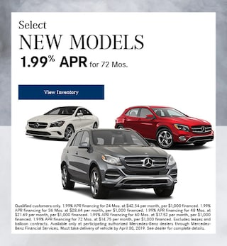 Select New Models 1.99% APR for 72 Months 4/4/2019