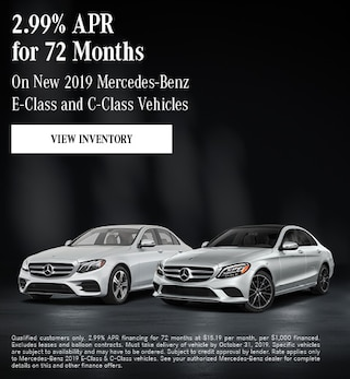 October New 2019 Mercedes-Benz E-Class and C-Class Vehicles Offer