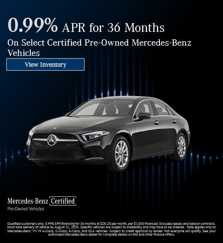 August 0.99% APR for 36 Months CPO Offer