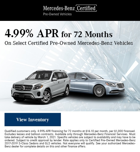 January 4.99% APR for 72 Months Offer