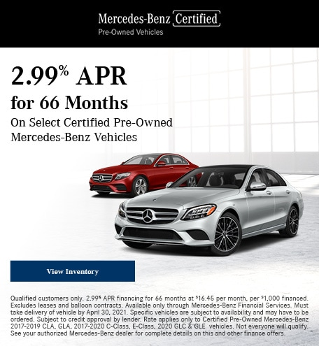 April 2.99% APR for 66 Months CPO Offer