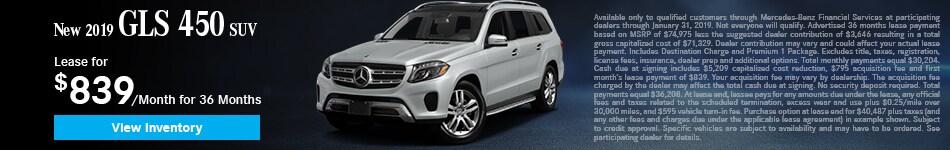 New 2019 GLS 450 SUV