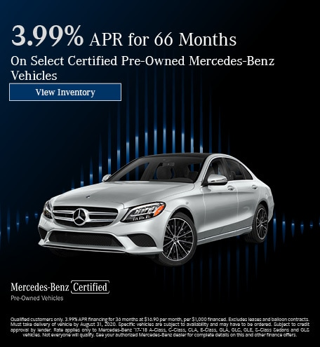 August 3.99% APR for 66 Months CPO Offer