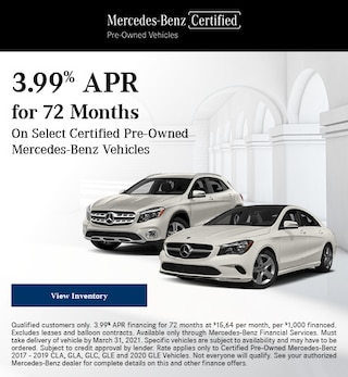 March 3.99% APR for 72 Months Offer